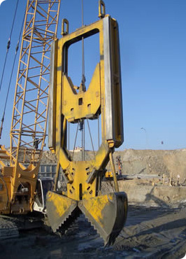 Production rate of MODEL&CO's machines for diaphragm wall and piling