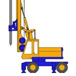 RF4, Hydraulic rotary bored pile rig