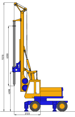 MODEL&CO, manufacturer of hydraulic rotary bored pile rig equipment RF4 for foundation engineering. MODEL&CO, manufacturer of foundation engineering equipment