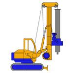 RF4S, Hydraulic rotary bored pile rig