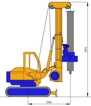 MODEL&CO, manufacturer of hydraulic rotary bored pile rig equipment RF4S for foundation engineering. MODEL&CO, manufacturer of foundation engineering equipment