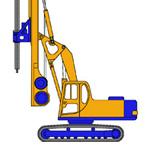 RF6, Hydraulic rotary bored pile rig