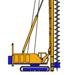 BF10, Continuous Flight Auger (CFA) rig