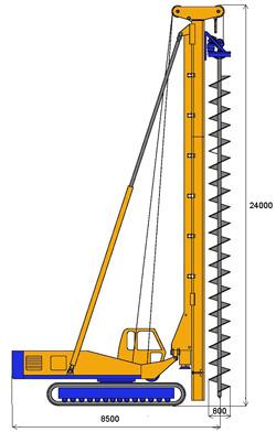 MODEL&CO, производитель Буровая Установка CFA (Continuous flight auger) Полый Шнек (непрерывный шнек) BF15 для Свай для основы инженерного оборудования