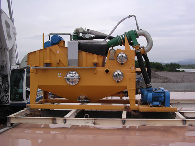 MODEL&CO, manufacturer of mud desanders of double cycloning MD190D for mud treatment for foundation engineering. MODEL&CO, manufacturer of foundation engineering equipment