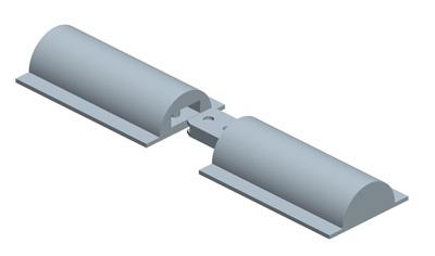 MODEL&CO, производитель Ровный полукруглый стык, Система соединения Ровных Стыков для Стен в грунте для основы инженерного оборудования