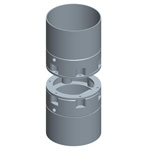 Round stop-end pipe systems, diaphragm wall implements
