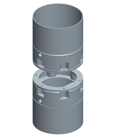 MODEL&CO, manufacturer of bolted joint for round stop-end pipe for diaphragm wall for foundation engineering. MODEL&CO, manufacturer of foundation engineering equipment