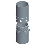 Joint with perimetral bolts, diaphragm wall implements