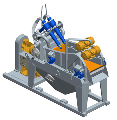 MODEL&CO, manufacturer of mini mud desanders of simple cycloning MD45 for foundation engineering. Desander for geothermal. MODEL&CO, manufacturer of foundation engineering equipment