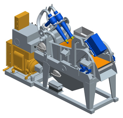 MODEL&CO, manufacturer of mini mud desanders of simple cycloning (diesel) MD45T for mud treatment. Desander for geothermal. MODEL&CO, manufacturer of foundation engineering equipment