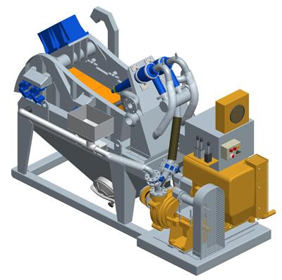 MODEL&CO, Небольшие (мини) Пескоотделители с несложной циркуляционной системой (Дизель) MD45T для оборудования для специальных фундаментов