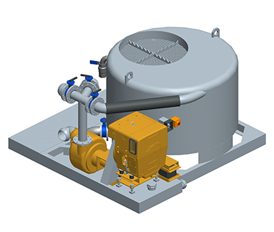 MODEL&CO, manufacturer of batch mud mixer with water tank M16D for foundation engineering. MODEL&CO, manufacturer of foundation engineering equipment
