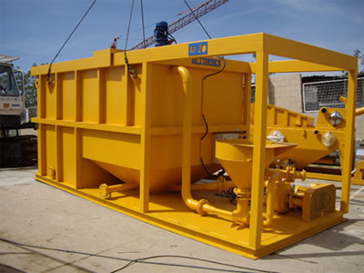 MODEL&CO, manufacturer of large capacity batch mixer  M20 for foundation engineering. MODEL&CO, manufacturer of foundation engineering equipment