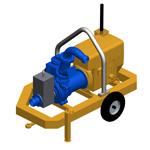 P160DV, Diesel selfpriming mud pump with Vacuum system