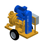 P160E, Electric mud pump for circulation