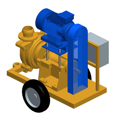 MODEL&CO, manufacturer of electric mud pumps P160E for foundation engineering. MODEL&CO, manufacturer of foundation engineering equipment