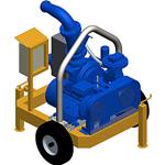 P180EV, Electric selfpriming mud pump with Vacuum system