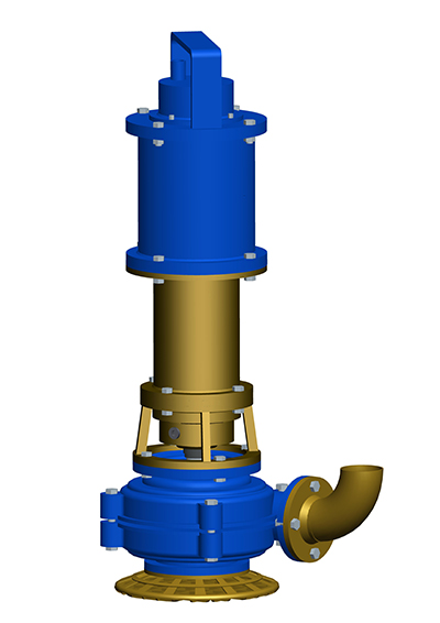 Manufacturer of submersible mud pumps P180SE for foundation engineering. MODEL&CO.