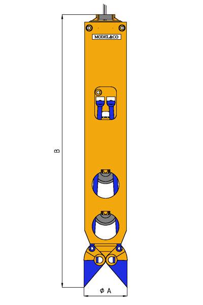 MODEL&CO, производитель Грейферный ковш ударного действия для свая для основы инженерного оборудования