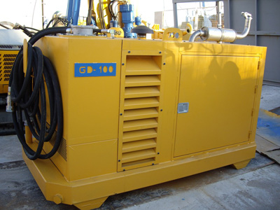 MODEL&CO, manufacturer of hydraulic power pack GD100 for multipurpose for diaphragm wall equipment for foundation engineering equipment. MODEL&CO, manufacturer of foundation engineering equipment
