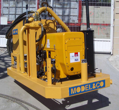 MODEL&CO, manufacturer of hydraulic power pack for multipurpose GD40 for diaphragm wall equipment for foundation engineering equipment. MODEL&CO, manufacturer of foundation engineering equipment