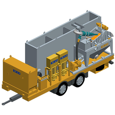 MODEL&CO, manufacturer of Recycle, Mix and Pump plant (RMP120) for drilling muds for foundation engineering