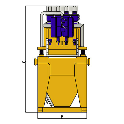 MODEL&CO, manufacturer of standard mud desanders of simple cycloning MD120S for mud treatment for foundation engineering . MODEL&CO, manufacturer of foundation engineering equipment