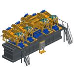 MD500 Modular, Пескоотделители с несложной циркуляционной системой