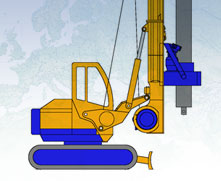 Manufacturer of piling foundation engineering equipment with continuous flight auger, rotary rigs and bored piles. Rotary heads and drilling tools. MODEL&CO, foundation engineering  equipment manufacturer.