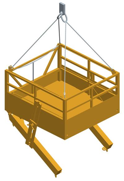 MODEL&CO, fabricante de accesorios para maquinaria de inyección de lechadas. CD23, plataforma de trabajo para perforar taludes para cimentaciones especiales