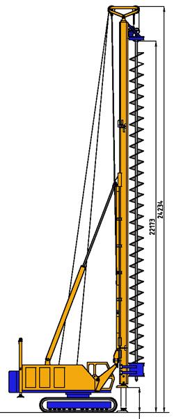 MODEL&CO, fabricante de maquinaria perforadora de barrena continua de pilotes CFA y micropilotes BF10 para obras de cimentaciones especiales