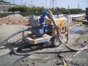 MODEL&CO, fabricante de bombas de lodos diesel autoaspirantes con circuito de vacío P160DV para obras de cimentaciones especiales
