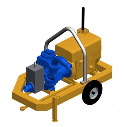 MODEL&CO, fabricante de bomba de lodos diesel autoaspirante con circuito de vacío P180DV para obras de cimentaciones especiales