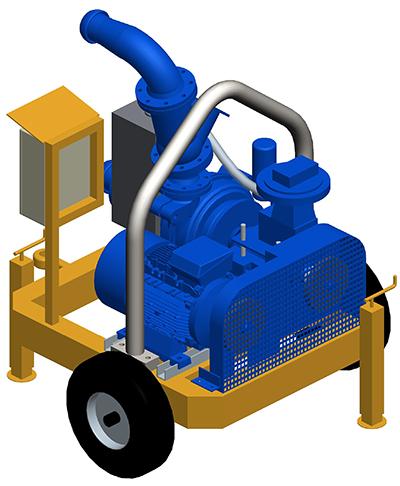 MODEL&CO, fabricante de bombas de lodos eléctricas autoaspirantes con circuito de vacío P180EV para obras de cimentaciones especiales