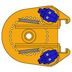 BC10 BC15, Cabeza de rotación de barrena continua