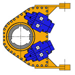 RT4, Cabezas de rotación para pilote perforado