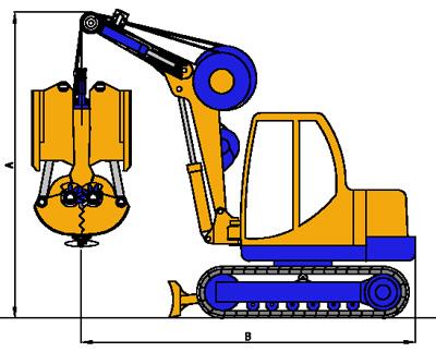 MODEL&CO, fabricante de cucharas hidráulicas MP200-300 de maquinaria de muro pantalla para obras de cimentaciones especiales