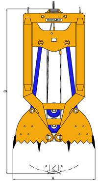 MODEL&CO, fabricante de cucharas mecánicas CM4 para maquinaria de muro pantalla para obras de cimentaciones especiales