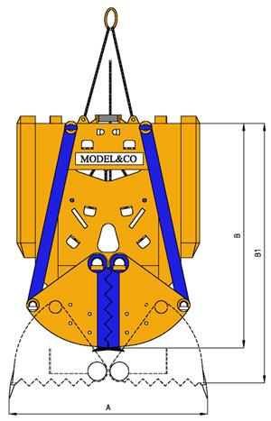 MODEL&CO, fabricante de cucharas mecánicas CMC para maquinaria de muro pantalla para obras de cimentaciones especiales