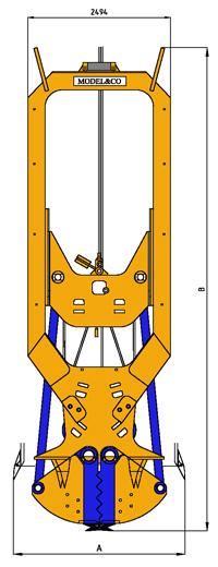 MODEL&CO, fabricante de cucharas mecánicas CMSP para maquinaria de muro pantalla para obras de cimentaciones especiales