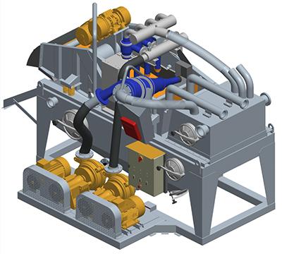MODEL&CO, fabricante de desarenadores de lodos de doble ciclonado MD190C para obras de cimentaciones especiales. Fabricante de maquinaria de tratamiento de lodos