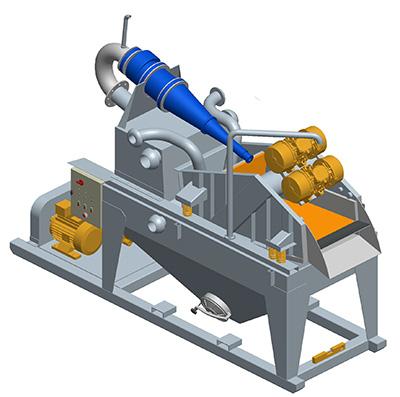 MODEL&CO, fabricante de desarenador estándar de lodos de simple ciclonado MD120 para obras de cimentaciones especiales. Fabricante de maquinaria de tratamiento de lodos