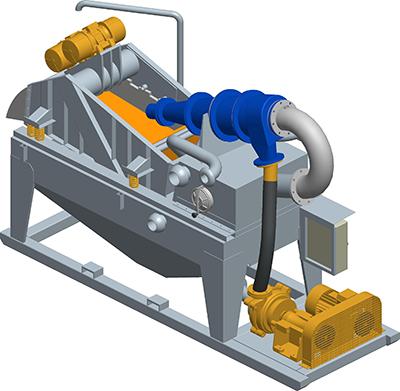 MODEL&CO, fabricante de desarenador estándar de lodos de simple ciclonado MD160F para obras de cimentaciones especiales. Fabricante de maquinaria de tratamiento de lodos