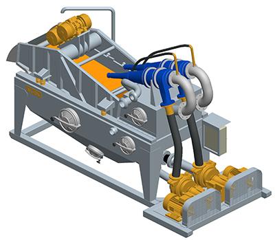 MODEL&CO, fabricante de desarenador estándar de lodos de simple ciclonado MD250 para obras de cimentaciones especiales. Fabricante de maquinaria de tratamiento de lodos