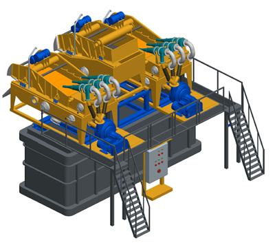 MODEL&CO, fabricante de desarenador estándar de lodos de simple ciclonado MD600 para obras de cimentaciones especiales. Fabricante de maquinaria de tratamiento de lodos
