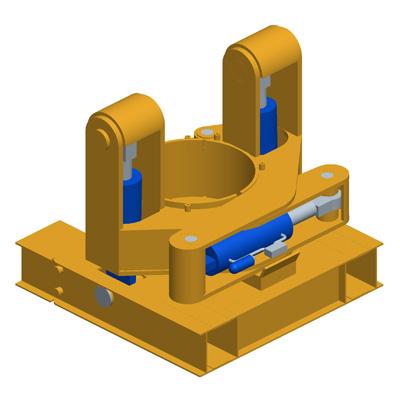 MODEL&CO, fabricante de extractor hidráulico de tubos de junta redonda HET1000-1500 para maquinaria de muro pantalla para obras de cimentaciones especiales