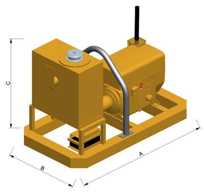 MODEL&CO, fabricante de grupo hidráulico GD40 para maquinaria de muro pantalla para obras de cimentaciones especiales