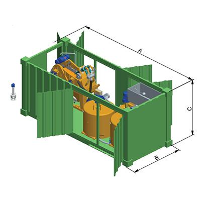 MODEL&CO, fabricante de grupos de reciclaje de Recicla y Mezcla para maquinaría de maquinaria de lodos para cimentaciones especiales