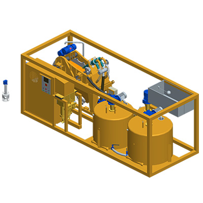 MODEL&CO, fabricante de grupos de reciclaje de Recicla, Mezcla y Bomba  (RMP45) para maquinaría de maquinaria de lodos para cimentaciones especiales